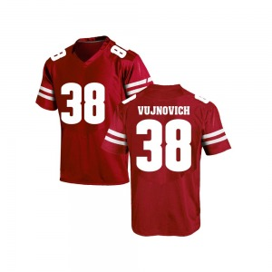 Andy Vujnovich Under Armour Wisconsin Badgers Youth Replica College Jersey - Red