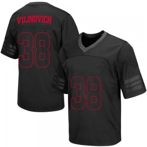 Andy Vujnovich Wisconsin Badgers Youth Replica out College Jersey - Black