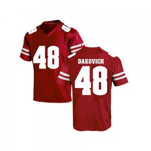 Cole Dakovich Under Armour Wisconsin Badgers Youth Game College Jersey - Red