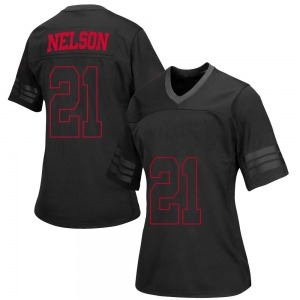Cooper Nelson Under Armour Wisconsin Badgers Women's Replica out College Jersey - Black