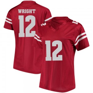 Daniel Wright Under Armour Wisconsin Badgers Women's Replica College Jersey - Red