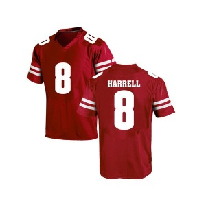 Deron Harrell Under Armour Wisconsin Badgers Men's Replica College Jersey - Red
