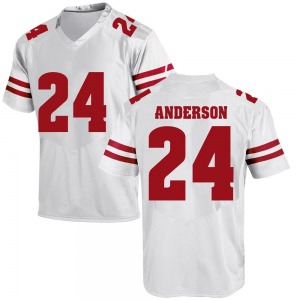 Haakon Anderson Under Armour Wisconsin Badgers Youth Replica College Jersey - White