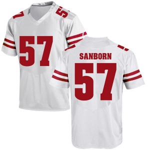 Jack Sanborn Under Armour Wisconsin Badgers Men's Replica College Jersey - White