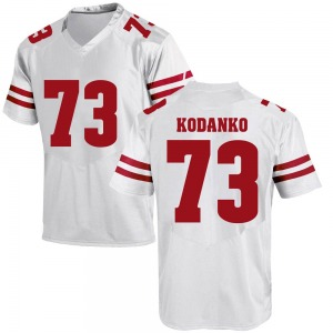 Kerry Kodanko Under Armour Wisconsin Badgers Youth Game College Jersey - White