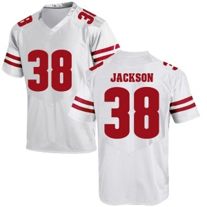 Paul Jackson Under Armour Wisconsin Badgers Men's Game College Jersey - White