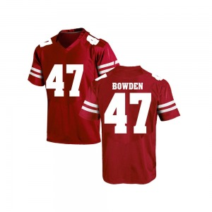 Peter Bowden Under Armour Wisconsin Badgers Men's Game College Jersey - Red