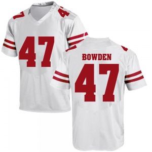 Peter Bowden Under Armour Wisconsin Badgers Men's Replica College Jersey - White