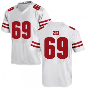 Zach Zei Under Armour Wisconsin Badgers Youth Replica College Jersey - White