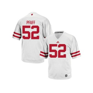 David Pfaff Wisconsin Badgers Youth Replica adidas Football Jersey  -  White